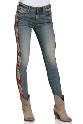 Aztec side stripe jean