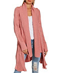 Cabled Long Sleeve Cozy Cardigan Photo