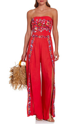 Display product reviews for Embroidered slit jumpsuit