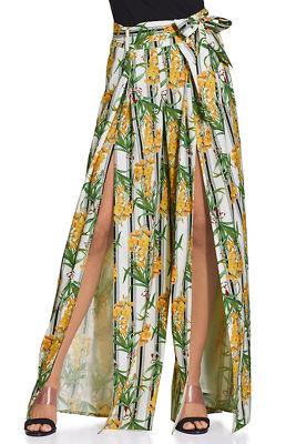 floral stripe pant