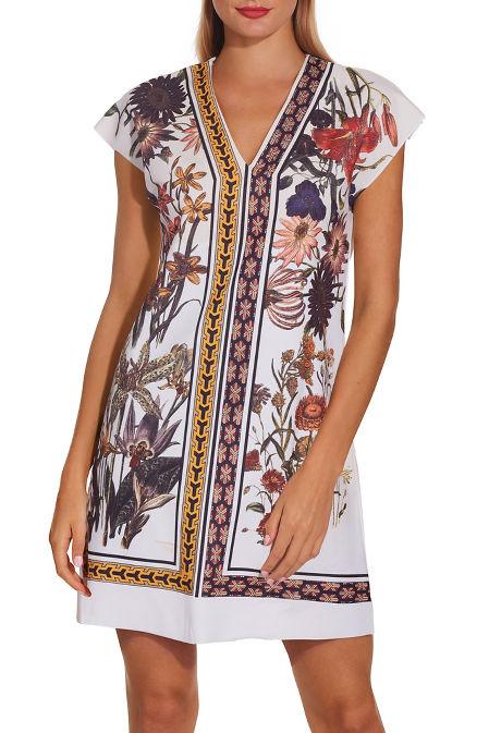 Floral T-shirt dress image