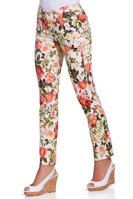 Garden printed ankle jean