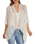 Lace Up Crochet Poncho Photo