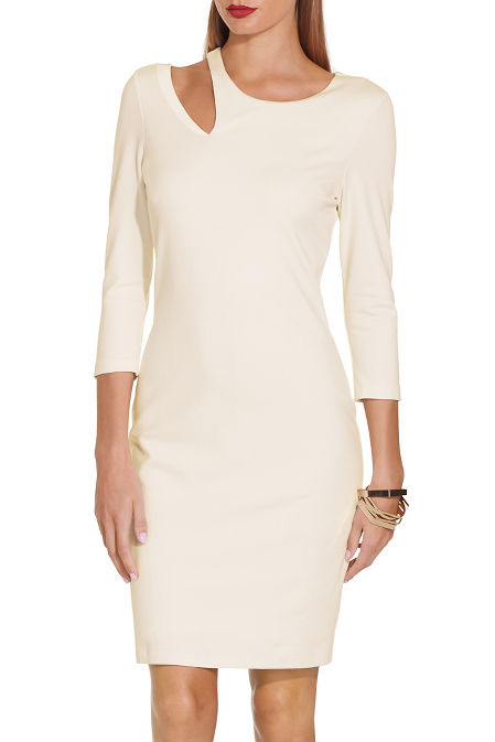 Ponte cutout dress image