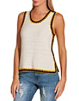 Multicolor Stitch Sweater Tank Photo
