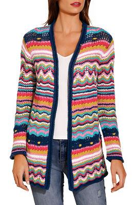 Multicolor stripe cardigan
