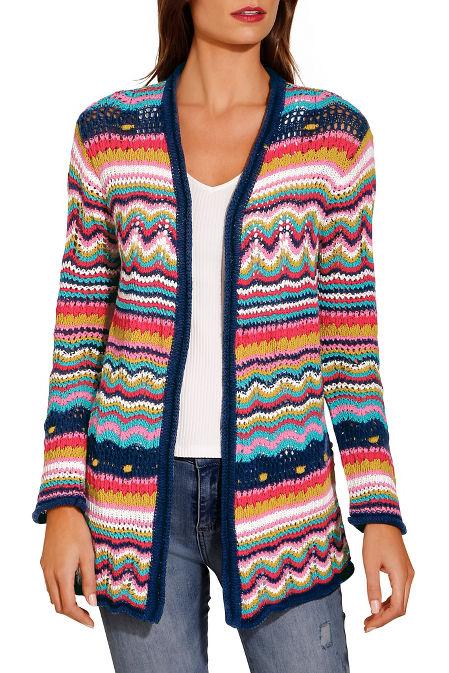 Multicolor stripe cardigan image
