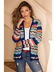 Multicolor Stripe Cardigan Photo