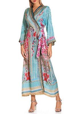 Orchid wrap maxi dress