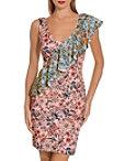 Pastel Floral Scuba Dress Photo