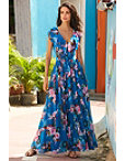 Ruffle Rose Maxi Dress Photo
