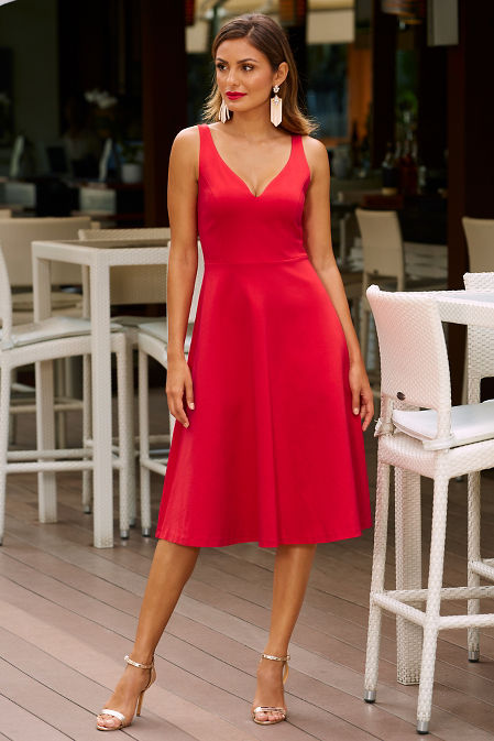 Ponte fit and flare dress image