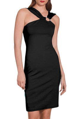 Ponte ring sheath dress