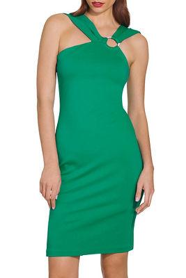 Ponte ring sheath dress