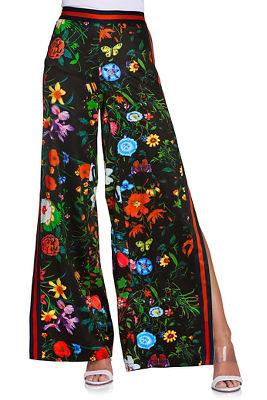 Racer stripe floral pant