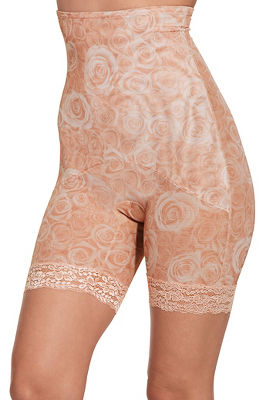 rose lace trim short
