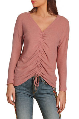 So soft ruched front top