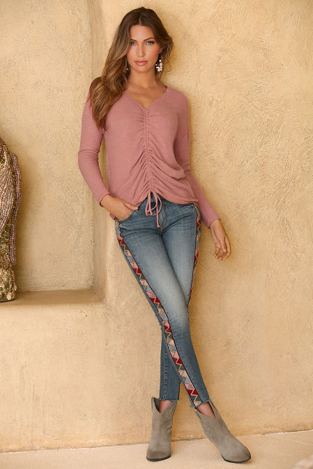 So soft ruched front top image