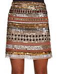 Sequin And Bead Mini Skirt Photo