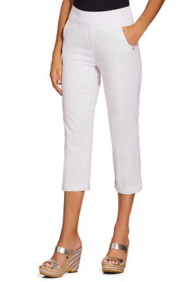Display product reviews for Serena crop pull on jean