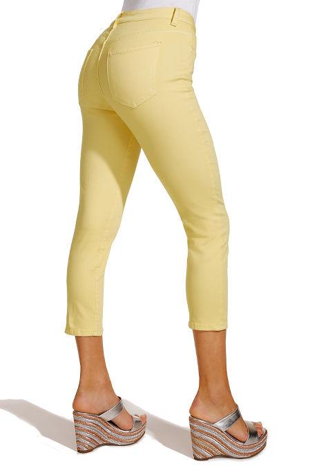 Slim crop jean image