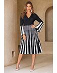 Stripe Surplice Dress Photo