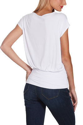 Display product reviews for Cap sleeve blouson tee