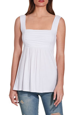 Ruched babydoll top