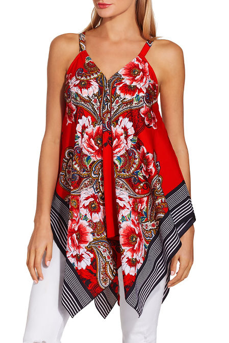 Floral paisley tank top image