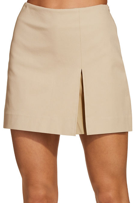 Everyday side zip twill skort image