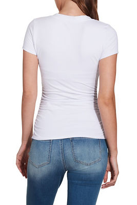 Display product reviews for So Sexy™ short sleeve ruched tee