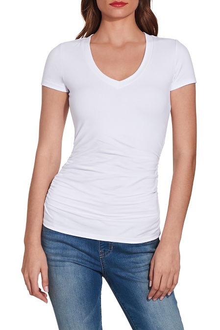 So Sexy™ short sleeve ruched tee image