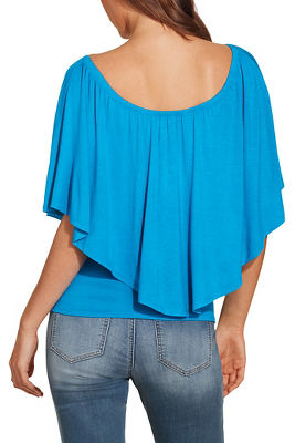 Triple threat flounce top