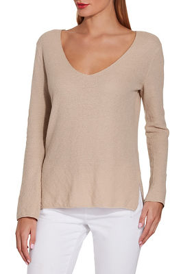 V neck easy sweater