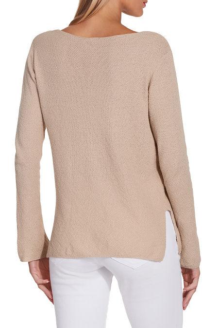 V neck easy sweater image