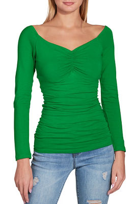 So Sexy™ ruched front off the shoulder top