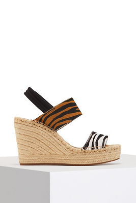 Animal espadrille wedge