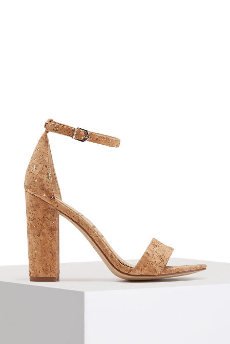 Ankle wrap cork heel image