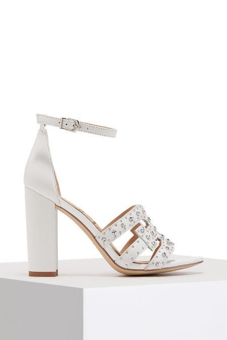 Ankle wrap studded heel image