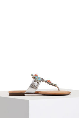 Beaded embellished sandal