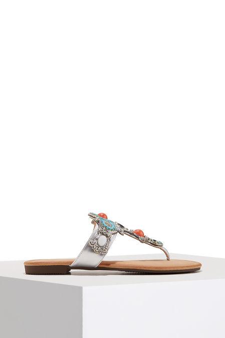 Beaded embellished sandal image