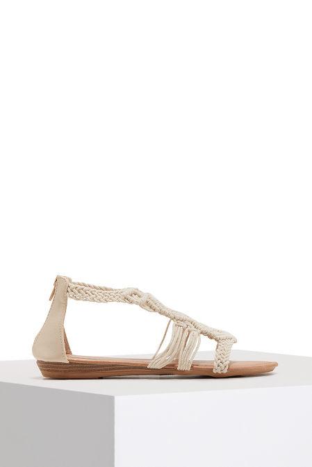 Boho woven sandal image