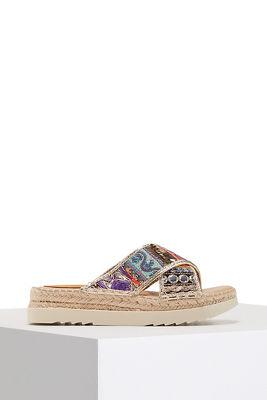 Crossover platform sandal