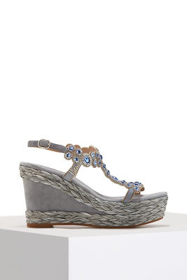crystal jewel embellished wedge