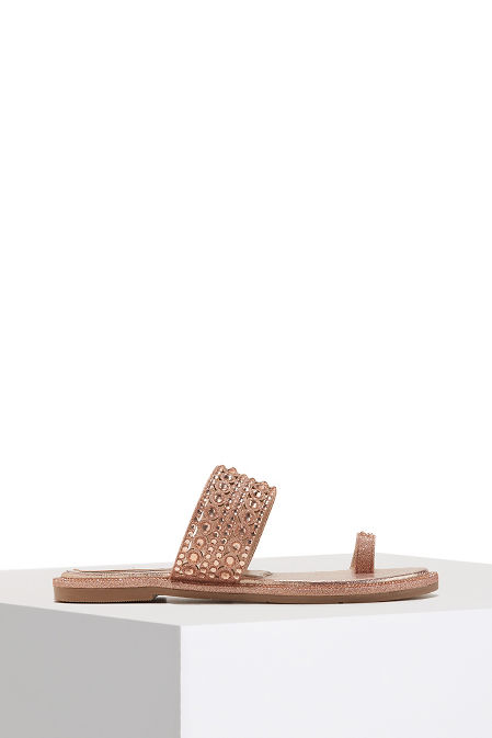 Crystal toe ring sandal image