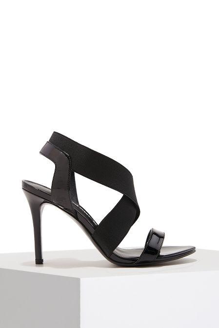 Elastic strappy heel image