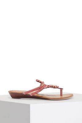 Embellished slip on sandal