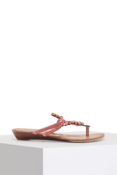 Embellished slip on sandal image