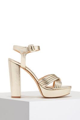 platform metallic heel