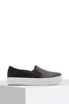 Shimmer slip on sneaker